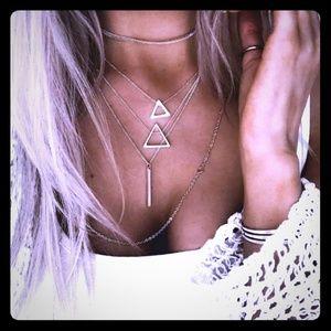 Geometric Boho Layering Necklaces